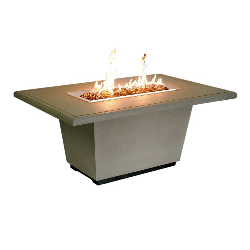 Rectangle fire pit with table