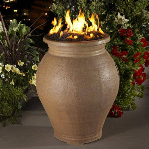 Image of American Fyre Designs Amphora Fire Urn Fire Column 660-CB-11-V2NC Fire Columns American Fyre Design