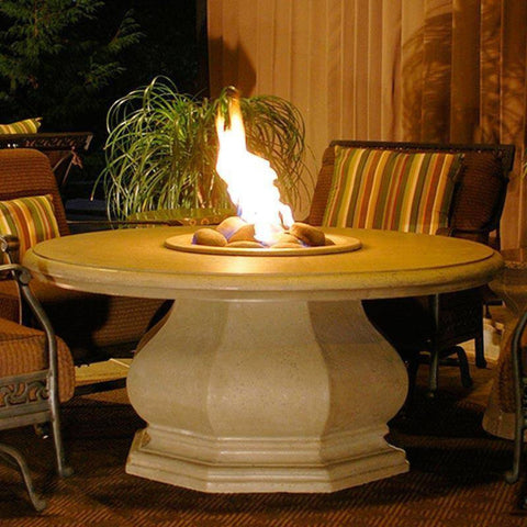 Image of American Fyre Designs Chat Height Octagon Fire Table with Concrete Top 626-BA-11-V2NC Fire Tables American Fyre Design