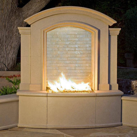 American Fyre Designs Large Firefall with Waterfall and Light Fireplace 695-BA-12-V5NC Fireplaces American Fyre Design
