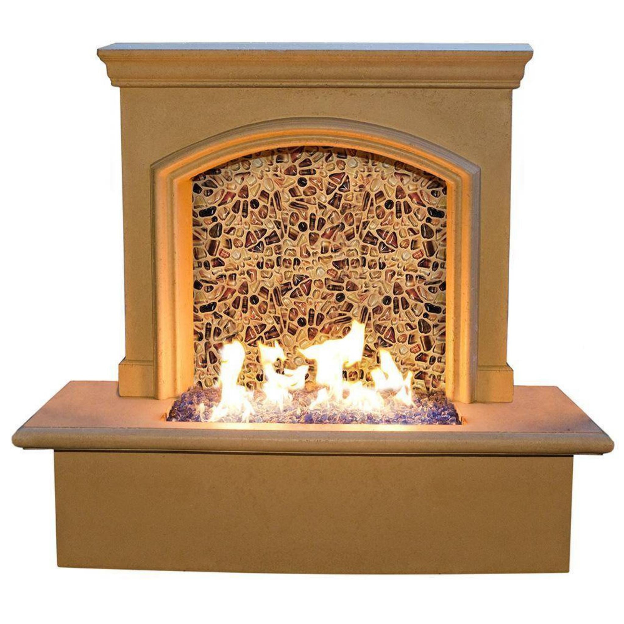 American Fyre Designs Small Firefall Artisan Glass Edition Fireplace 690-BA-52-V5NC Fireplaces American Fyre Design