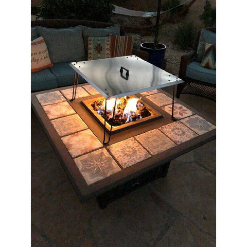 "Image of AZ Patio Heaters 24"" Heat Deflector in Stainless Steel Fire Pit GM-WG27-GWAU - In Stock Accessories AZ Patio Heaters"