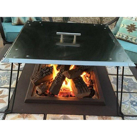 "AZ Patio Heaters 24"" Heat Deflector in Stainless Steel Fire Pit GM-WG27-GWAU - In Stock Accessories AZ Patio Heaters"