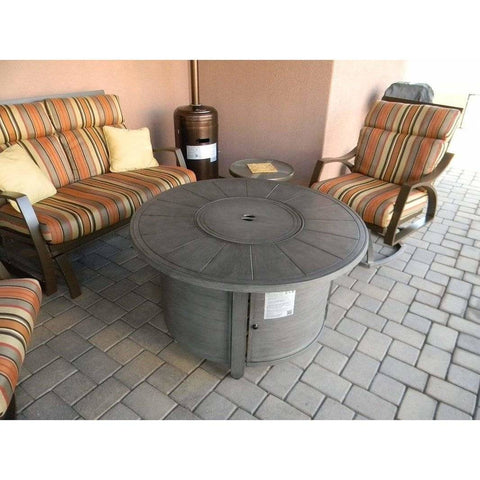 AZ Patio Heaters Brush wood Round Aluminum Fire Pit Table FS-2017-FPT - In Stock Fire Pit AZ Patio Heaters