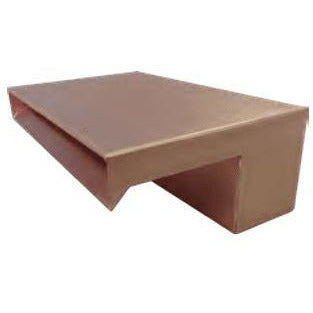"Bobe Water And Fire 12"" Smooth Flow Smooth Copper Scupper SFC-12 Scupper Bobe Water and Fire"
