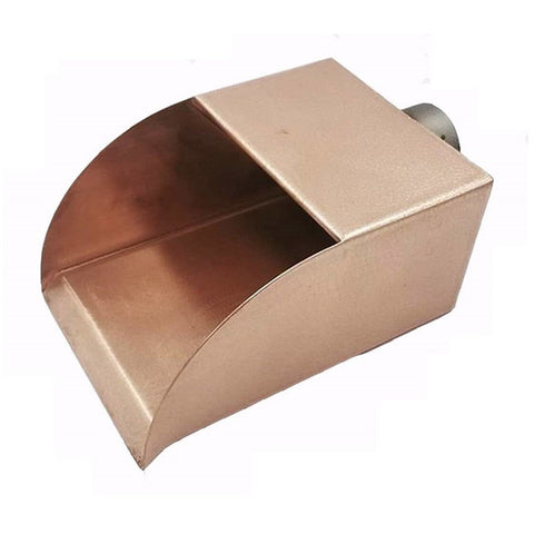 Image of Bobe Water And Fire Radius Scupper- Copper Scupper RC-6 Scupper Bobe Water and Fire