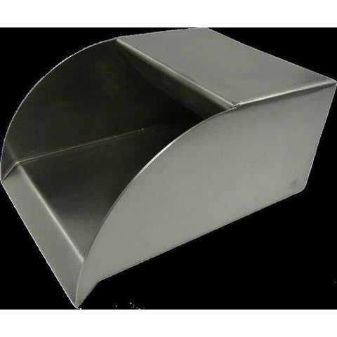 Bobe Water And Fire Smooth Flow Radius Scupper SFRC-12 Scupper Bobe Water and Fire Stainless Steel 12 Inches