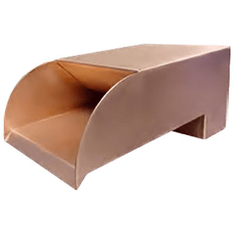Bobe Water And Fire Smooth Flow Radius Scupper SFRC-12 Scupper Bobe Water and Fire Copper 12 Inches