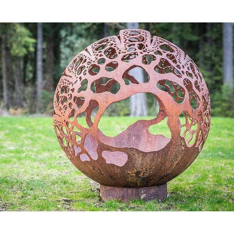 Cedar Creek Sculptures Coral Dome Wood Burning Fire Pit Fire Pit Cedar Creek Sculptures