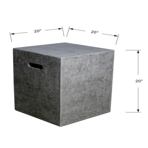"Image of Elementi 20"" Outdoor Propane Tank Cover Hideaway Firepit Side Table ONB01-104 Accessories Elementi"