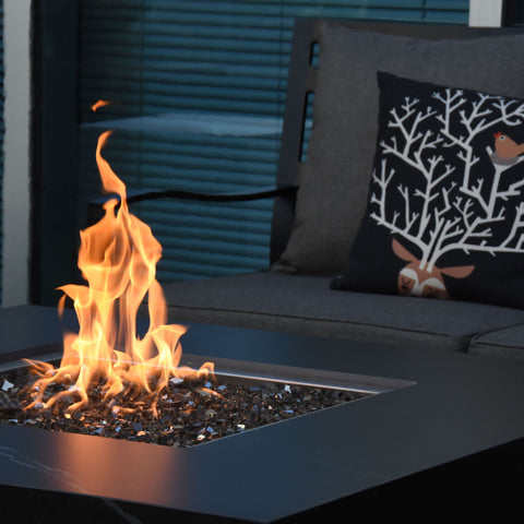 Image of Elementi Sofia Porcelain Fire Table - OFP103BB Fire Pit Elementi