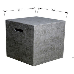 Elementi Tank Cover -20.1''H Square - ONB01-104 Accessories Elementi