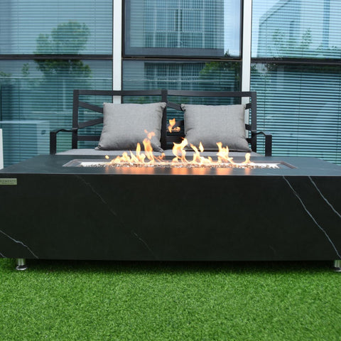 Image of Elementi Varna Porcelain Fire Table - OFP121BB Fire Pit Elementi