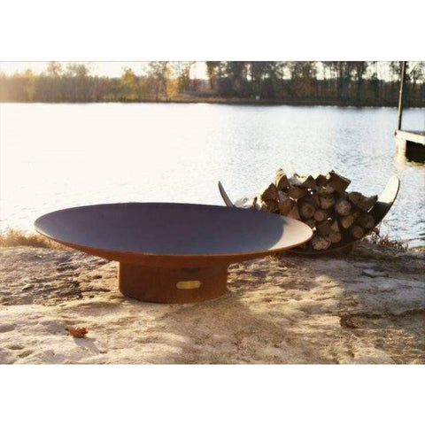 "Image of Fire Pit Art Asia 72"" Handcrafted Carbon Steel Gas Fire Pit - Asia 72""-MLS250 Fire Pit Fire Pit Art"