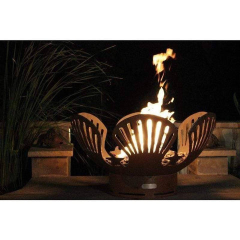 "Image of Fire Pit Art Barefoot Beach 41"" Handcrafted Carbon Steel Gas Fire Pit - Barefoot Beach-FPA-MLS120 Fire Pit Fire Pit Art"