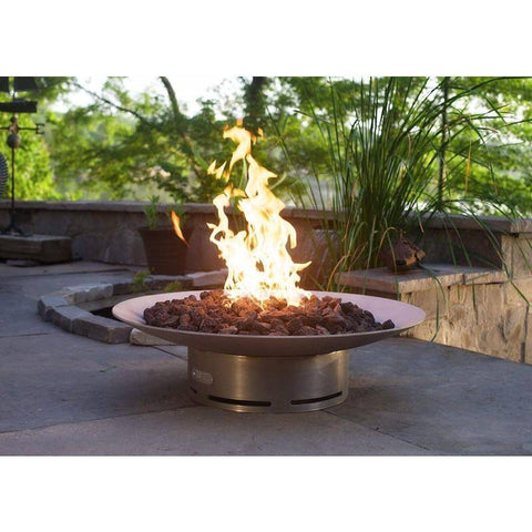 "Image of Fire Pit Art Bella Vita 46"" Handcrafted Carbon Steel Gas Fire Pit - Bella Vita 46-FPA-MLS120 Fire Pit Fire Pit Art"