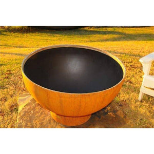 "Fire Pit Art Crater 36"" Handcrafted Carbon Steel Gas Fire Pit - Eclipse-FPA-MLS120 Fire Pit Fire Pit Art"