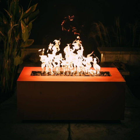 "Fire Pit Art Linear 60"" Handcrafted Carbon Steel Gas Fire Pit - Linear 60"" - MLS190 Fire Pit Fire Pit Art"