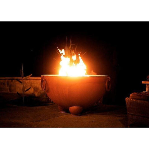 "Image of Fire Pit Art Nepal 41"" Handcrafted Carbon Steel Gas Fire Pit - Nepal-MLS180 Fire Pit Fire Pit Art"