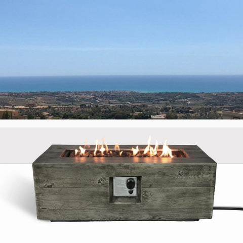 Living Source Cast Concrete Rectangle Gas Fire Pit Table CM-0017 Fire Pit Table Living Source International