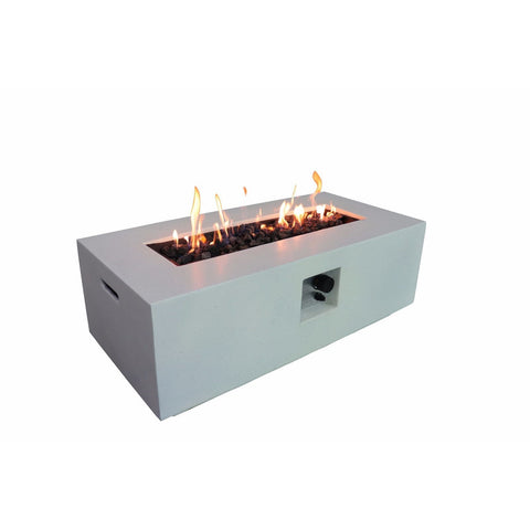 Living Source Cast Concrete Rectangle Gas Fire Pit Table CM-1005 - In Stock Fire Pit Table Living Source International