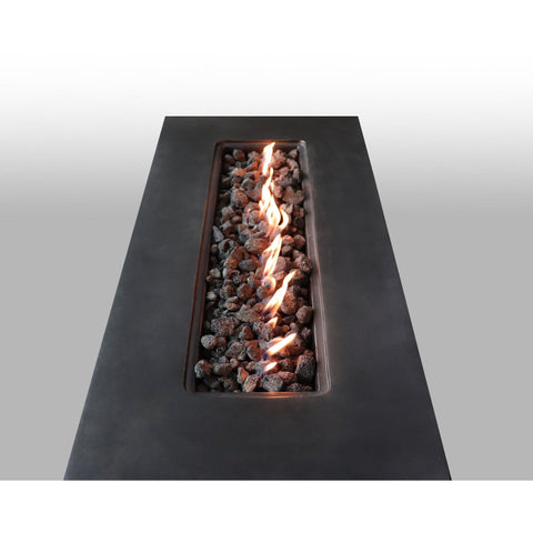 Image of Living Source Cast Concrete Rectangle Gas Fire Pit Table CM-1007G - In Stock Fire Pit Table Living Source International