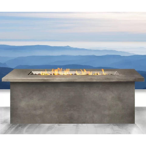 Living Source Cast Concrete Rectangle Gas Fire Pit Table CM-1013C - In Stock Fire Pit Table Living Source International
