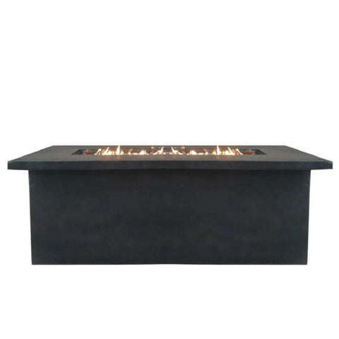 Image of Living Source Cast Concrete Rectangle Gas Fire Pit Table CM-1013G Fire Pit Table Living Source International