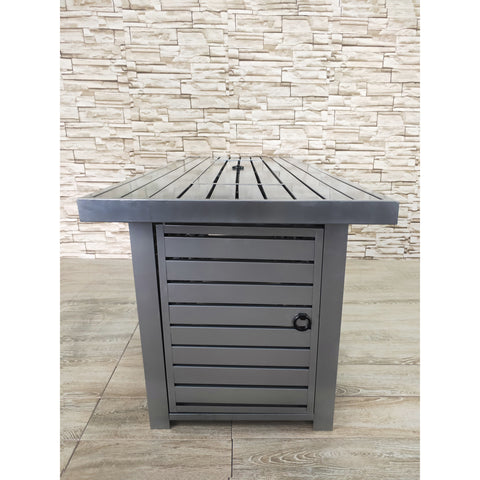 Image of Living Source Cast Concrete Rectangle Gas Fire Pit Table CM-2026 - In Stock Fire Pit Table Living Source International