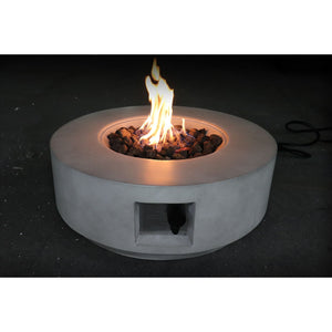 Living Source Cast Concrete Round Gas Fire Pit Table CM-1003C Fire Pit Table Living Source International