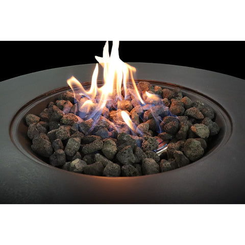Living Source Cast Concrete Round Gas Fire Pit Table CM-1003G Fire Pit Table Living Source International