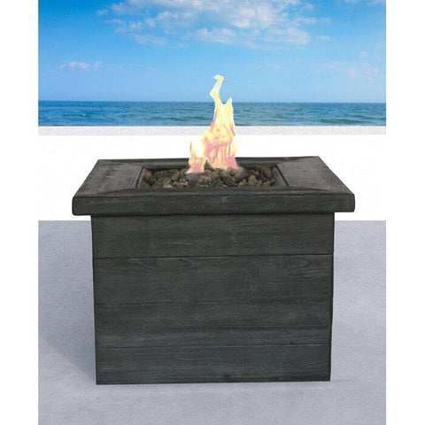 Living Source Cast Concrete Square Gas Fire Pit Table CM-0031 - In Stock Fire Pit Table Living Source International