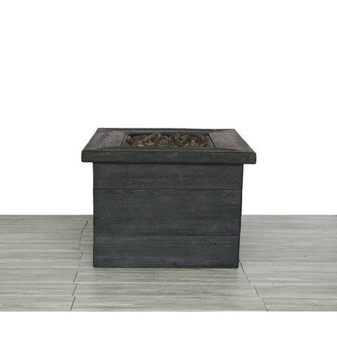 Image of Living Source Cast Concrete Square Gas Fire Pit Table CM-0031 - In Stock Fire Pit Table Living Source International