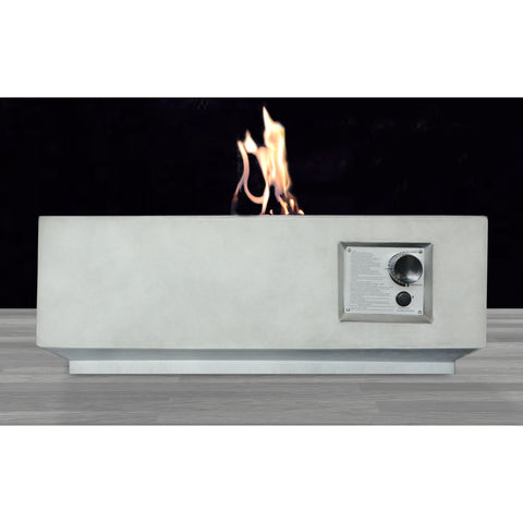 Image of Living Source Cast Concrete Square Gas Fire Pit Table CM-1002C - In Stock Fire Pit Table Living Source International