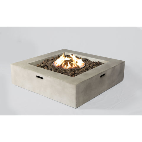 Image of Living Source Cast Concrete Square Gas Fire Pit Table CM-1015C Fire Pit Table Living Source International