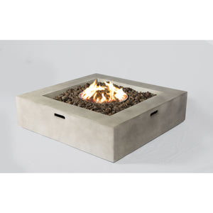 Living Source Cast Concrete Square Gas Fire Pit Table CM-1015C Fire Pit Table Living Source International