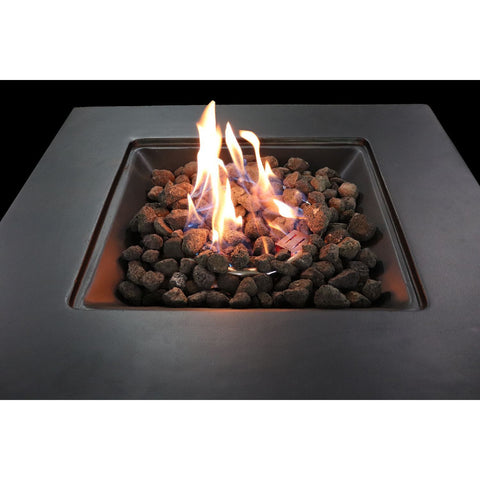 Image of Living Source Cast Concrete Square Gas Fire Pit Table CM-1031G - In Stock Fire Pit Table Living Source International