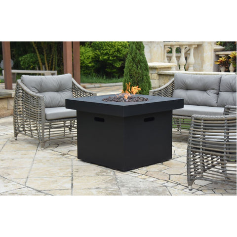 Image of Modeno Burlington Concrete Fire Pit Table - OFG303 Fire Pit Table Modeno Liquid Propane Black