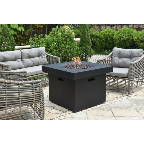 Image of Modeno Burlington Concrete Fire Pit Table - OFG303 Fire Pit Table Modeno