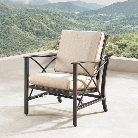 Image of Oakland Living Chile-Mayan 5-Piece Outdoor Fire Table Set - CHILE-MAYAN-5PC-AC Outdoor Fire Table Sets Oakland Living