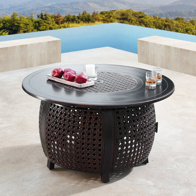 "Oakland Living Cliff 44"" Round Propane Fire Pit Table - CLIFF-FPT-AC Fire Pit Table Oakland Living"