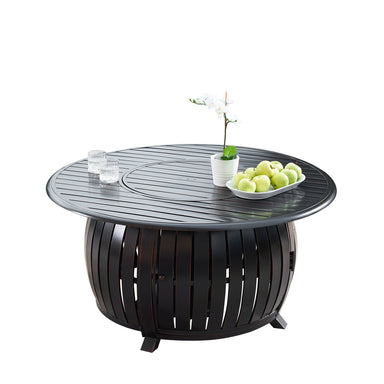 "Oakland Living Italy 44"" Round Propane Fire Pit Table - ITALY-FPT-AC Fire Pit Table Oakland Living"