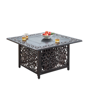 "Oakland Living Mayan 42"" Square Propane Fire Pit Table - MAYAN-FPT-AC Fire Pit Table Oakland Living"