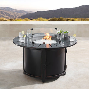 "Oakland Living Nobu 44"" Round Propane Fire Pit Table - NOBU-FPT-AC Fire Pit Table Oakland Living"