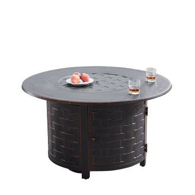 "Oakland Living Rico 44"" Round Propane Fire Pit Table - RICO-FPT-AC - In Stock Fire Pit Table Oakland Living"