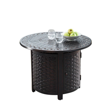 "Oakland Living Romero 34"" Round Propane Fire Pit Table - ROMERO-FPT-AC - In Stock Fire Pit Table Oakland Living"