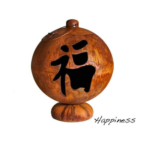 Image of Ohio Flame Peace, Happiness, Tranquility Wood Burning Fire Globe OF30FGPHT Fire Pit Ohio Flame