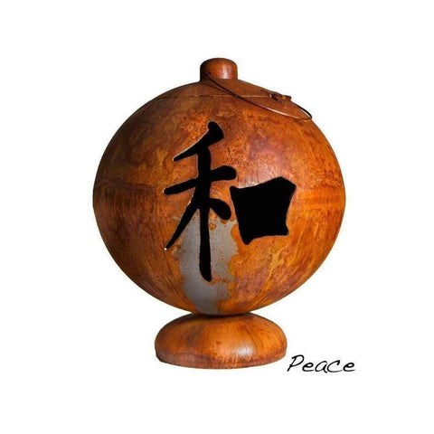 Ohio Flame Peace, Happiness, Tranquility Wood Burning Fire Globe OF30FGPHT Fire Pit Ohio Flame