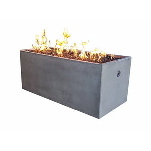 "Pottery Works 50"" Rectangular Concrete Fire Pit - In Stock Fire Pit Table Pottery Works"