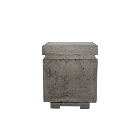 Image of Prism Hardscapes Tav Concrete Propane Enclosure PH-412, 20x20-Inch Gas Fire Pit Prism Hardscapes Pewter